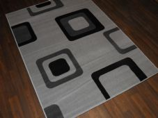 Modern Approx 6x4ft 120x170cm Woven Backed Greys/black Sale Quality Squares Rugs